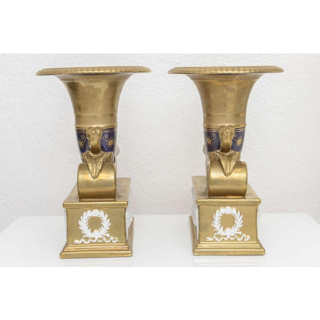 Pair of Neo-Classic Style Cornucopia with Boars: Dresden, Germany, 19th C. For Sale In West Palm - Image 6 of 11