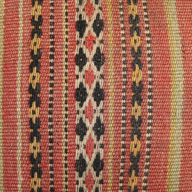 Rug and Relic Light Coral Stripe Kilim Pillow - Image 2 of 2