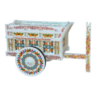 Painted Rolling Tea Cart For Sale