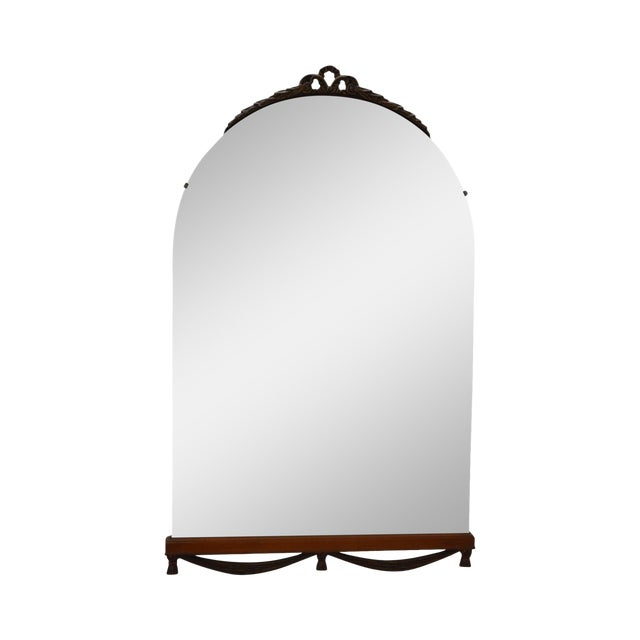 1930s Partial Gilt Frame Hanging Wall Mirror For Sale