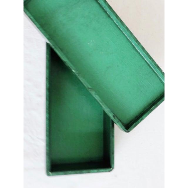 Green Faux Malachite Trinket Box For Sale - Image 8 of 10