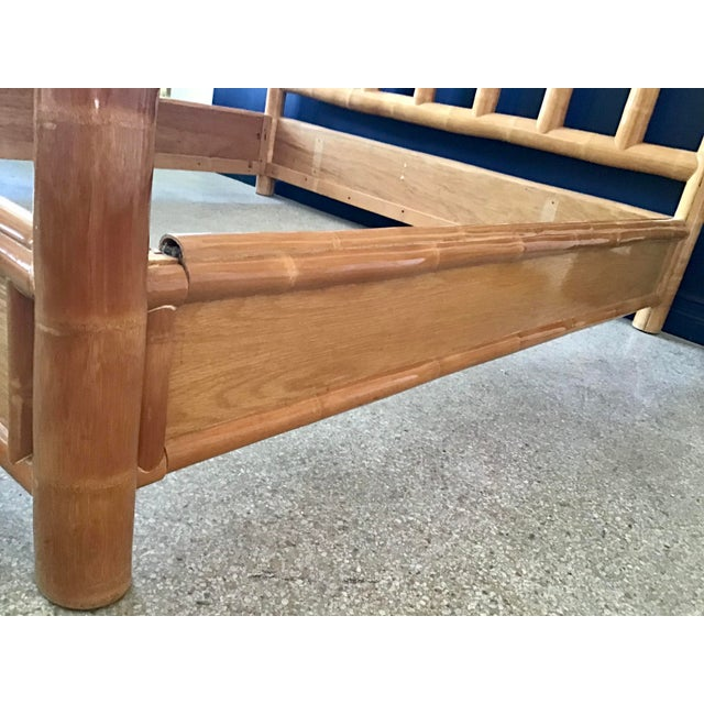 Vintage Boho Chic King Size Bamboo Canopy Bedframe For Sale - Image 11 of 12