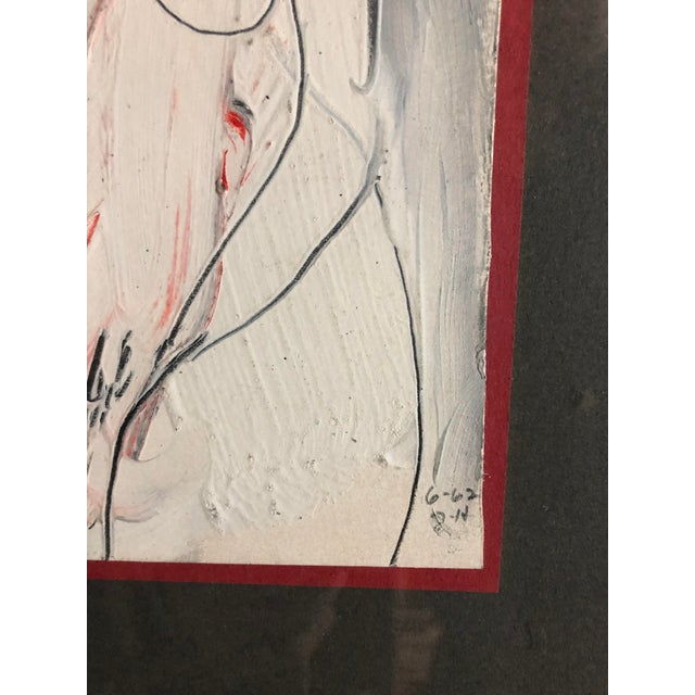 Abstract Jack Hooper 1962 Female Nude Painting For Sale - Image 3 of 8