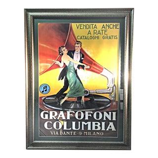 Italian Grafofoni Columbia Poster