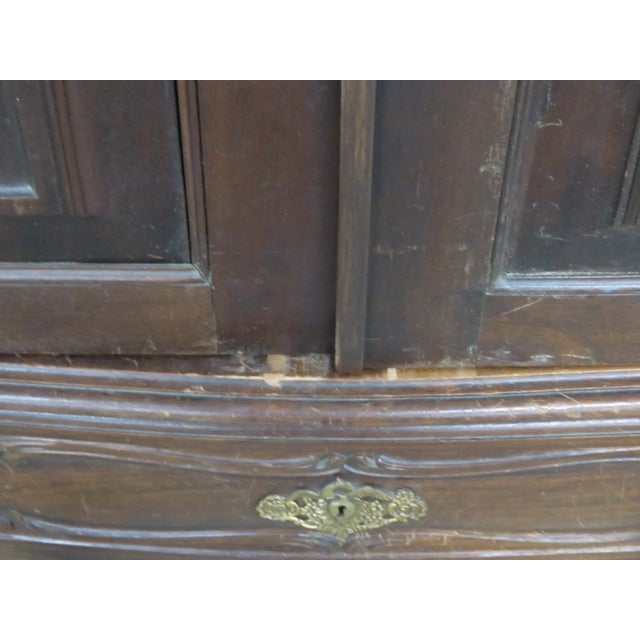 Portugese Carved 2-Door Armoire - Image 5 of 10