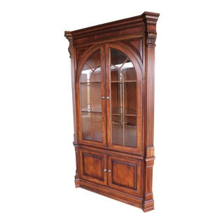 Ethan Allen Newport Collection Mahogany Corner Cabinet 34-6438 For Sale