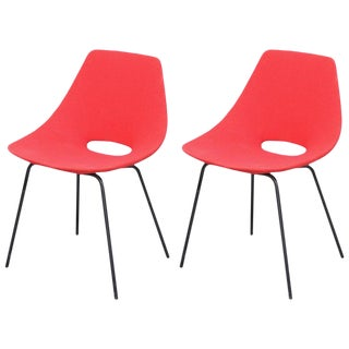 1950s Vintage Pierre Guariche Tonneau Chairs - a Pair For Sale