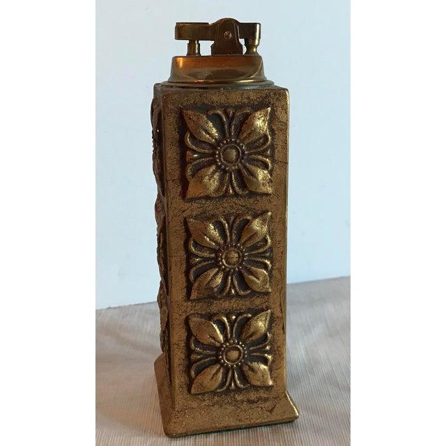 Italian Italian Florentine Gilt Carved Wood Table Lighter For Sale - Image 3 of 8