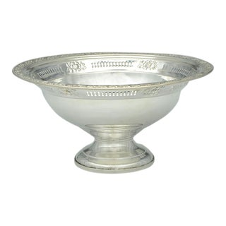 Sterling Round Footed Centerpiece For Sale