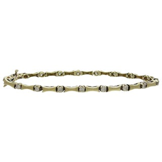14k Gold and Diamond Articulated Link Bracelet For Sale