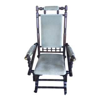Victorian Platform Rocking Chair For Sale