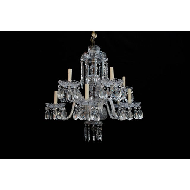 The qualities of the crystal is amazing, this chandelier is more impressive in person, hard to capture it on a picture.