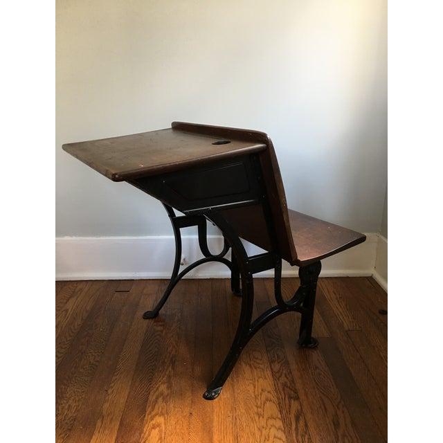 1910s 1916 Early American Heywood Wakefield School Desk For Sale - Image 5 of 9