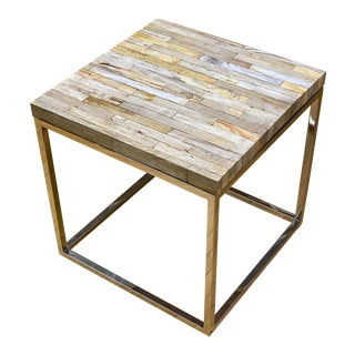 Modern Petrified Wood Table For Sale