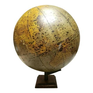 1920s Vintage Rand-McNally Globe With Eagle Finial For Sale