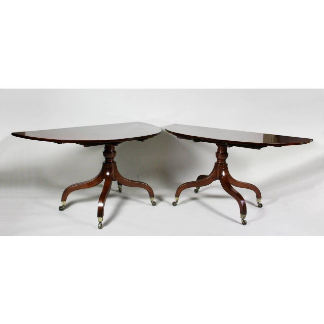 Brown Unusual Irish Regency Two Pedestal Dining Table For Sale - Image 8 of 8