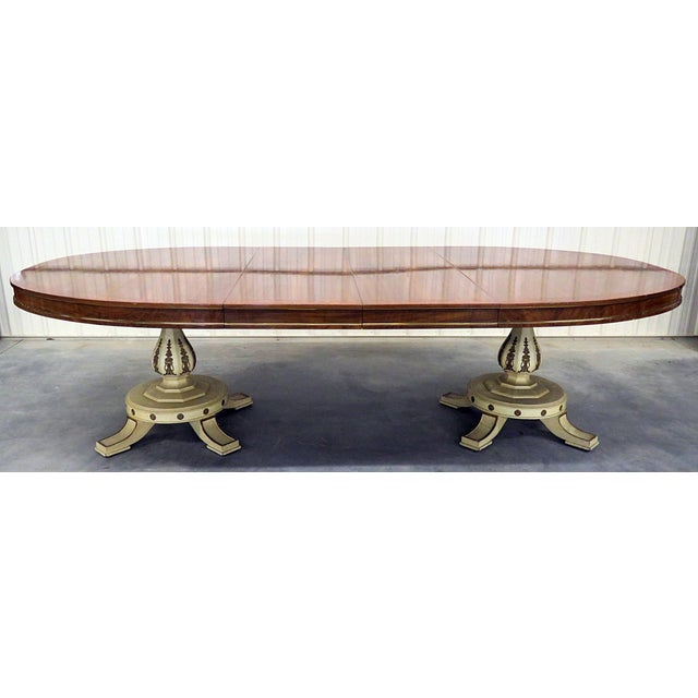 White Regency Style Dining Room Table For Sale - Image 8 of 8