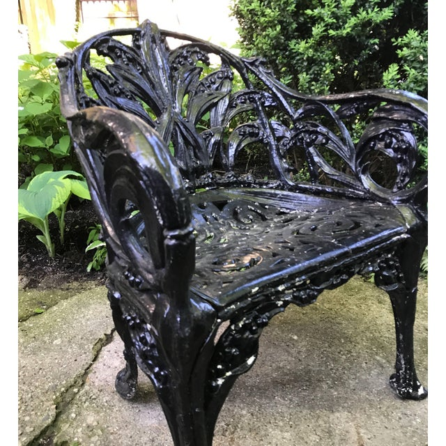 Black Lilly of the Valley Garden Chair For Sale - Image 8 of 13