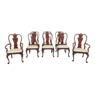 1990s Vintage Karges Georgian Mahogany Clawfoot Dining Room Chairs- Set of 8 For Sale