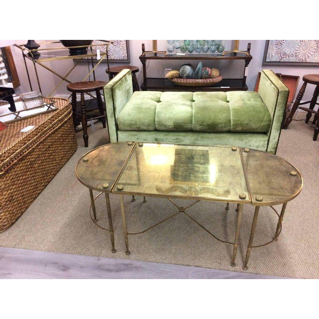 Traditional Vintage Oblong Gilded Coffee Table For Sale - Image 3 of 9