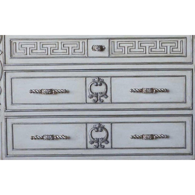 Hollywood Regency Ebanista Villa Lorenzo Painted Marble Top Chest For Sale - Image 6 of 8
