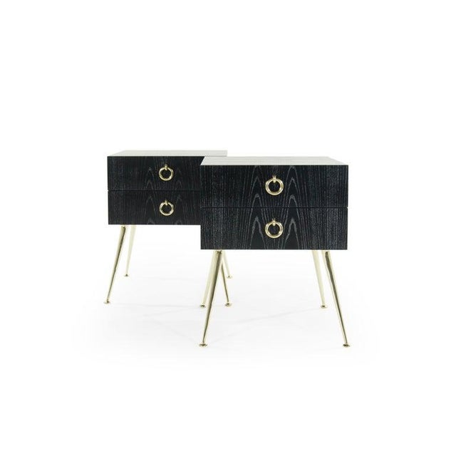 Gibby Collection End Tables in Limed Oak For Sale In New York - Image 6 of 13