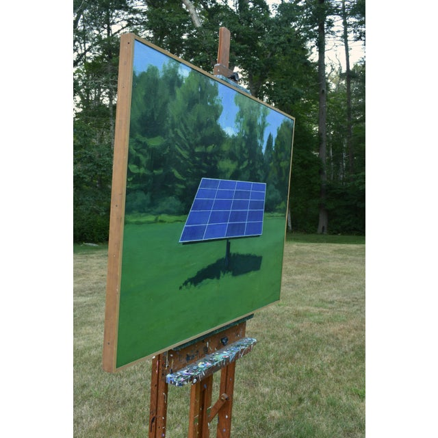 """Canvas """"Solar Panel in a Field"""", Contemporary Painting by Stephen Remick For Sale - Image 7 of 12"""