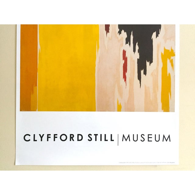 """Various Artists Clyfford Still Abstract Expressionist Lithograph Print Poster """"Ph - 1074"""", 1956 For Sale - Image 4 of 11"""