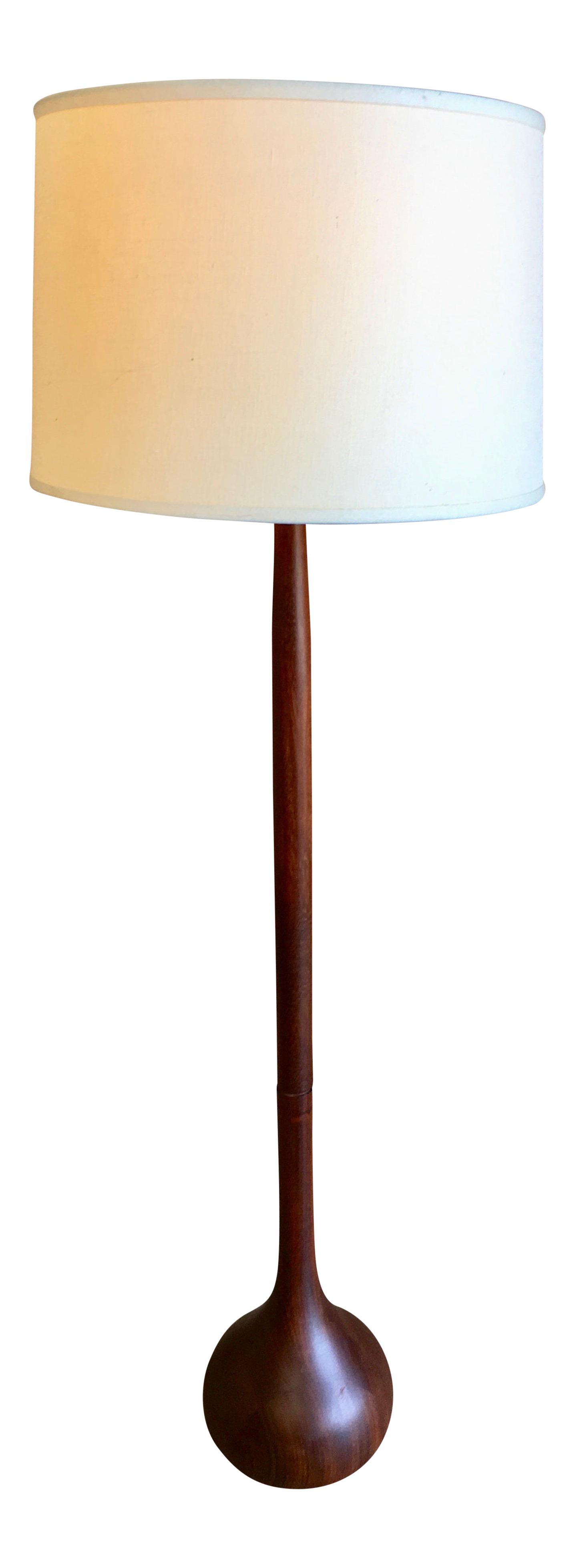 Image of: 1960s Danish Modern Solid Teak Onion Floor Lamp Chairish