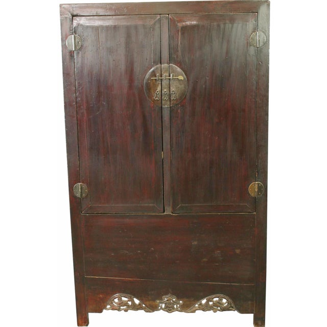 Late Qing Dynasty Elm & Chinese Fir Cabinet - Image 1 of 8
