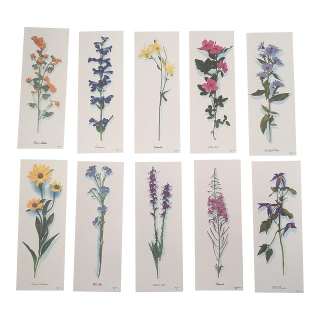 Harrison R. Crandall Wildflower Prints - Set of 10 For Sale