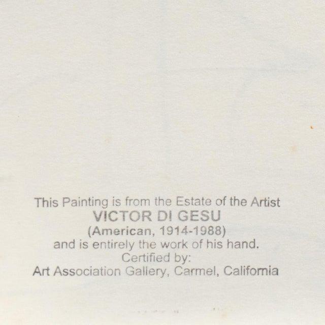 Paper Reclining Nude' by Victor DI Gesu, California Post-Impressionist, Louvre, Paris, Carmel, Lacma, Sfaa For Sale - Image 7 of 7
