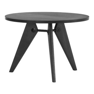 Jean Prouvé Guéridon Dining Table in Smoked Oak for Vitra For Sale