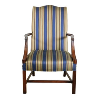 Chippendale Style Solid Mahogany Martha Washington Armchair For Sale