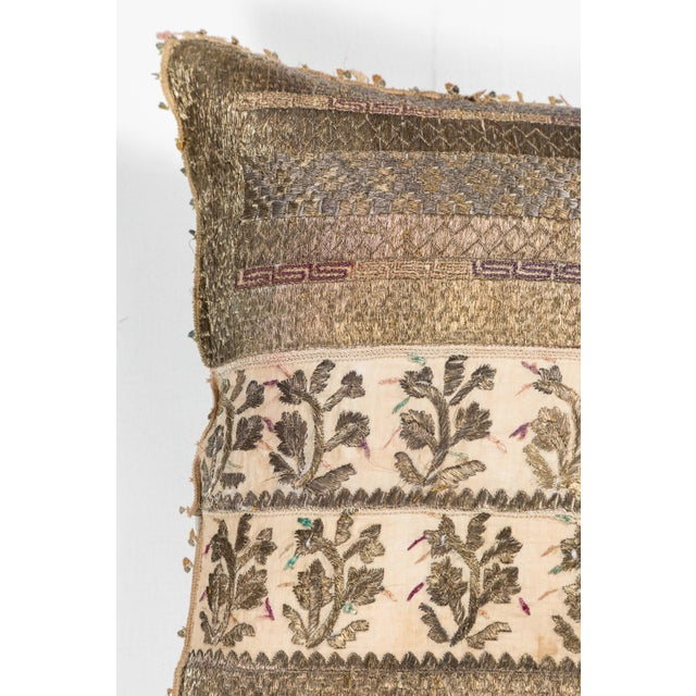 19th Century Embroidery Pillow For Sale - Image 4 of 7