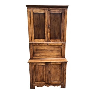 20th Century Rustic Refinished Secretary's Desk For Sale