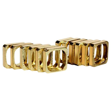 Bucklers 5th Ave Napkin Rings- Set of 12 For Sale