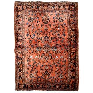 1920s Handmade Antique Persian Sarouk Rug 3.2' X 5.1' For Sale