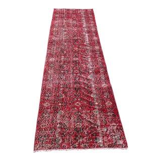 1960s Vintage Turkish Wool Runner Rug - 2′6″ × 9′10″ For Sale