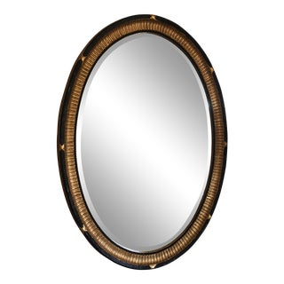 Neo-Classical Style Oval Beveled Wall Mirror