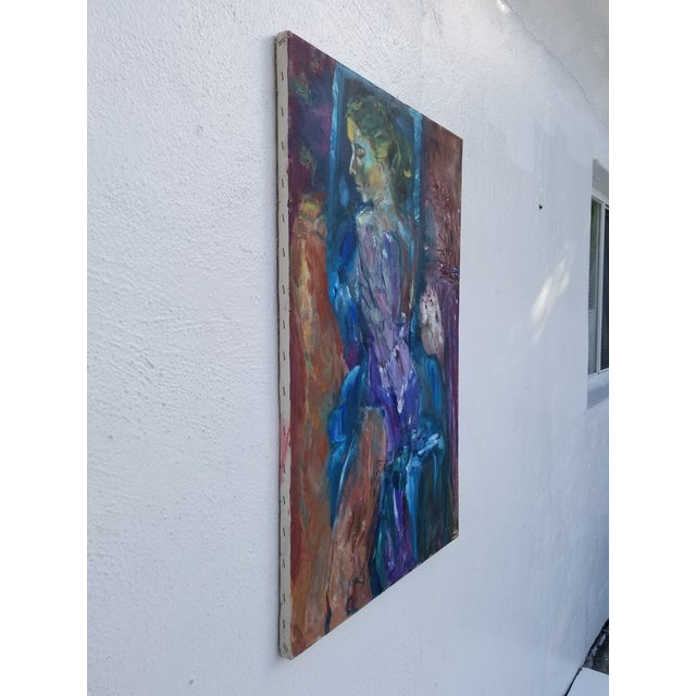 80's Abstract Nude Woman Painting For Sale - Image 10 of 12