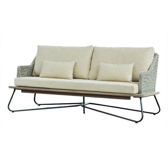 Mona Indonesian Rattan Apartment Sofa For Sale - Image 4 of 4