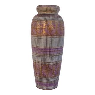 Mid-Century Bitossi Italian Seta or Sgraffito Tall Ceramic Vase For Sale