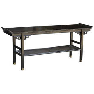 Ebonized Console Table in the Manner of James Mont For Sale