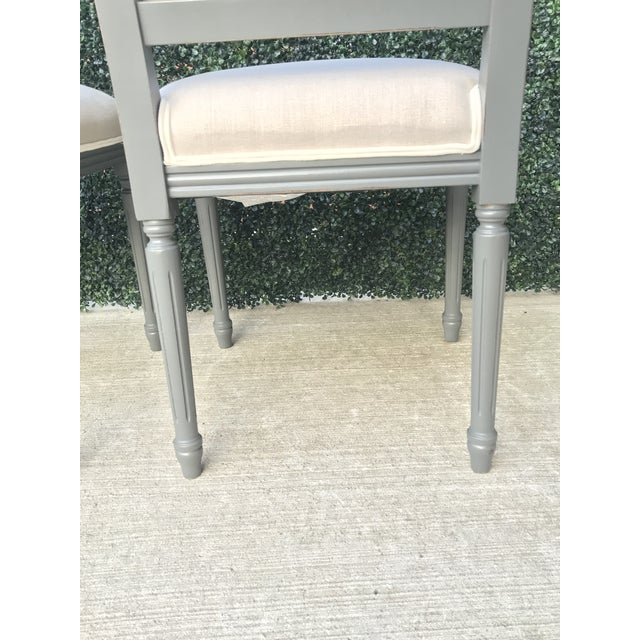 Sarried Ltd Louis XVI Gray Squared Side Chairs - A Pair For Sale - Image 10 of 13