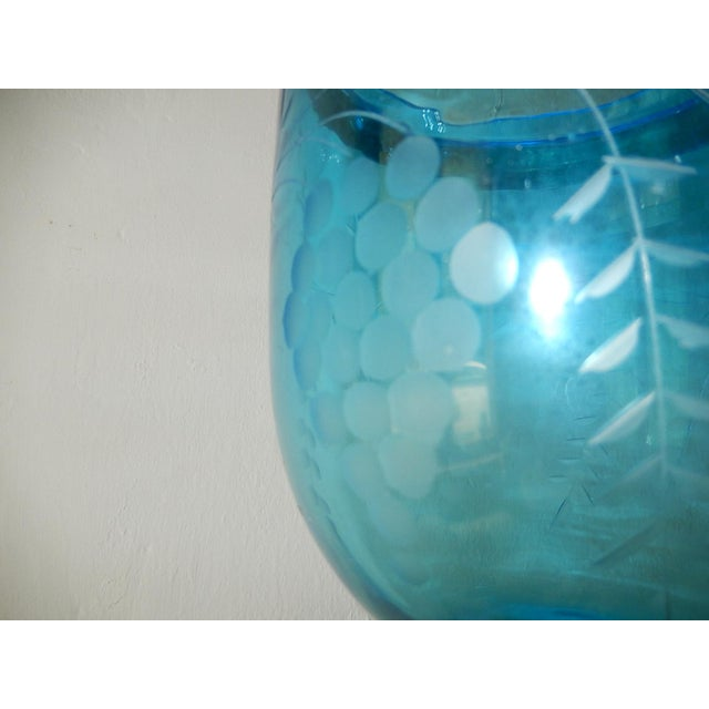 Blue 19th Century Cobalt Blue English Bell Jar Lantern Chandelier For Sale - Image 8 of 13