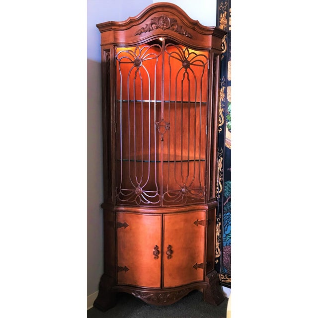 Late 20th Century Corner Cabinet With Iron Doors For Sale - Image 13 of 13