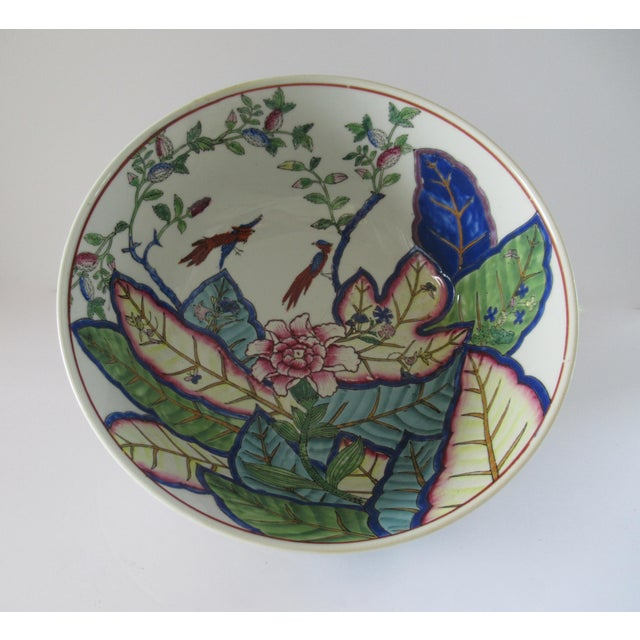 """Tobacco Leaf"" is a highly recognizable classic Chinese pattern of the brightly colored flowering Nicotiana (Tobacco)..."