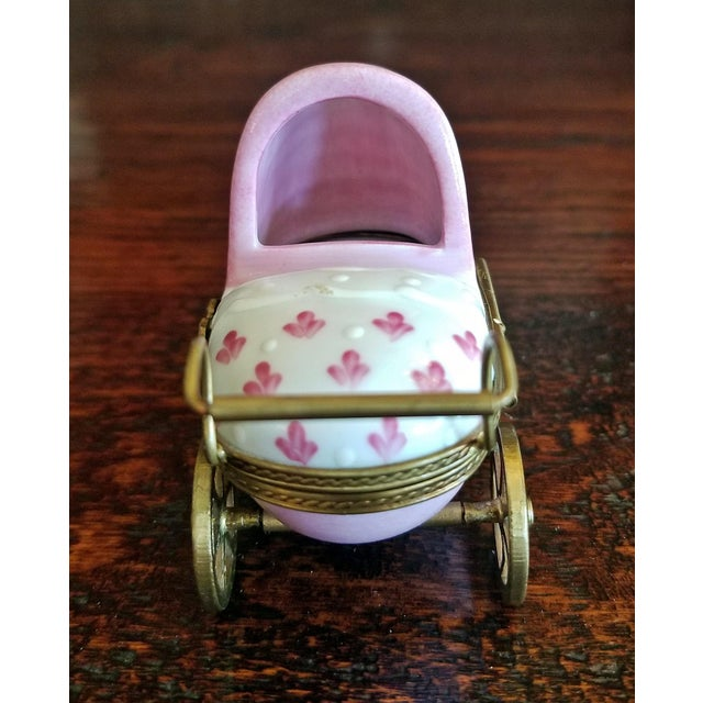 French Limoges Baby Pram With Baby For Sale In Dallas - Image 6 of 12