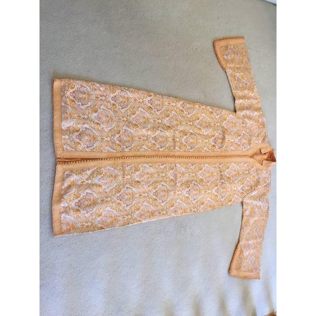 1970s Moroccan Brocade Bohemian Handmade Vintage Kaftan For Sale - Image 9 of 10